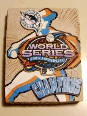 MARLINS WORLD SERIES 2003 100th ANNIVERSARY CHAMPIONS HANDCRAFTED COLLECTIBLE LIMITED EDITION for Sale in Alhambra, CA