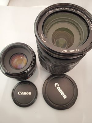 2 Canon lenses 250$ or trade for Sale in Long Beach, CA