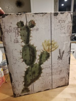 Wood Cactus Art for Sale in Tacoma, WA