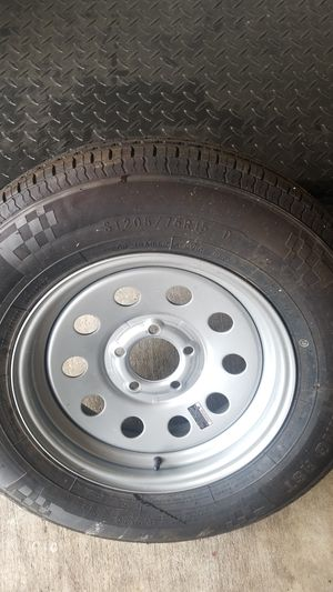 Trailer king - spare trailer tire and wheel 5 lug 15inch wheel for Sale in Spring, TX