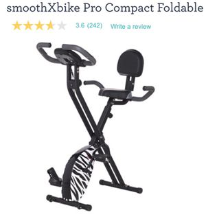 Like New SmoothXbike Compact Foldable ExerciseBike by Smooth Fitness Paid $250 Sell $175. Pedal your cares away. Enjoy a great cycling workout in t for Sale in Tracy, CA