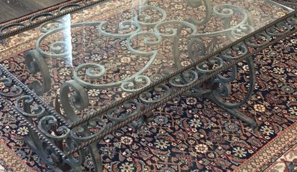 Antique Glass and Iron Coffee Table for Sale in Nashville,  TN