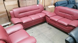 Burgundy sofa, loveseat, chair for Sale in Chino, CA