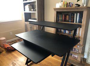 Black 2 Tier Desk w/ Pullout Keyboard Stand for Sale in Newark, NJ