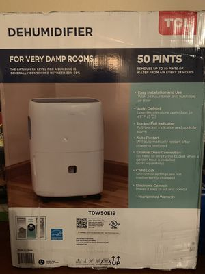 TCL 50 Pint High Efficiency Dehumidifier for Sale in Peoria, AZ