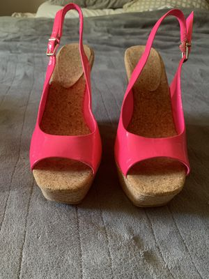 Pink wedge sandals for Sale in Baltimore, MD