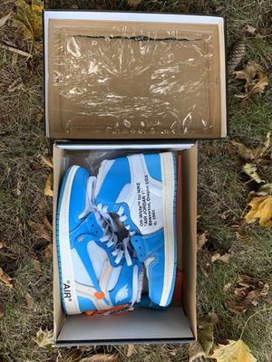 jordan retro 1 high off white blue for Sale in Piscataway, NJ