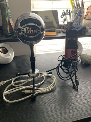Blue Snowball and Fifine USB microphones for Sale in Murfreesboro, TN