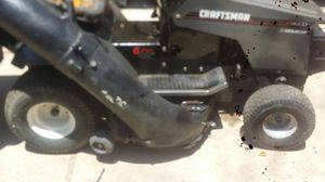 Riding lawn mower 12.5 hp. Briggs & Stratton with trailer for Sale in LAKE MATHEWS, CA