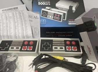 500 Games in 1 Classic Mini Game Console for NES Retro TV Dual Gamepads Nintendo for Sale in Los Angeles,  CA
