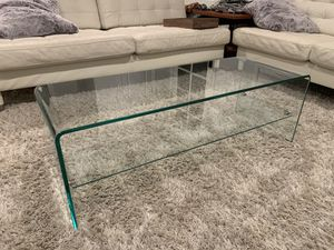 Glass waterfall coffee table for Sale in Los Alamitos, CA