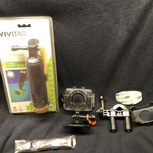 vivitar gopro hand held float/water proof case and mounting hardware. for Sale in Gilbert, AZ