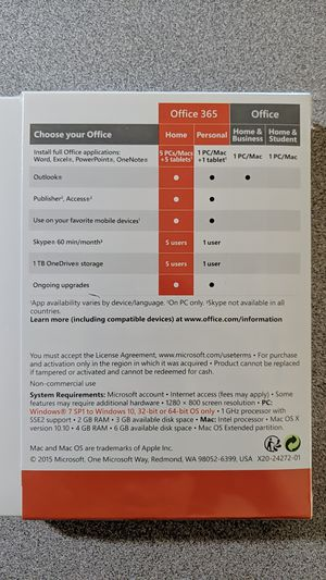 Microsoft Office 365 Home Subscription for Sale in Chandler, AZ