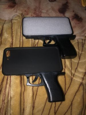 Luxury 3D IPhone case. Silicone toy pistol for Sale in North Las Vegas, NV