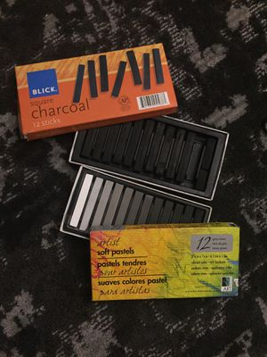 Charcoal and gray-tone pastels for Sale in Austin, TX