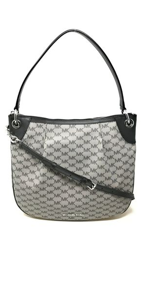 Michael Kors Jet Set Black/ Gray Signature Convertible Shoulder Bag Tote for Sale in Silver Spring, MD