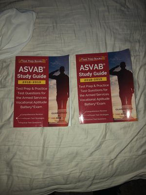 ASVAP STUDY GUIDES(2)❗️ Test prep books for Sale in Silver Spring, MD