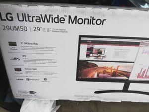LG 29 in ultrawide monitor for Sale in Saugatuck, MI
