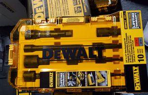 DWMT74741, 10 PIECE 3/8 IN & 1/2 IN DRIVE IMPACT ACCESSORY SET for Sale in Burlington, NJ