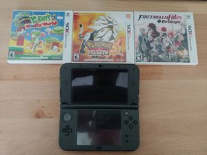 New Nintendo 3ds lx black with 3 games for Sale in Rockville, MD