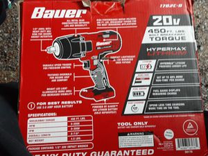 """New 1/2 """" impact w/20volt battery/ charger is separate for Sale in Seattle, WA"""