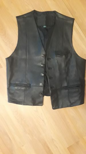 Leather Vest Motorcycle Style for Sale in Philadelphia, PA
