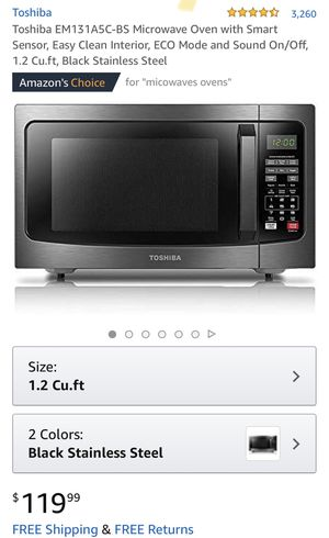 Toshiba countertop microwave for Sale in Redlands, CA