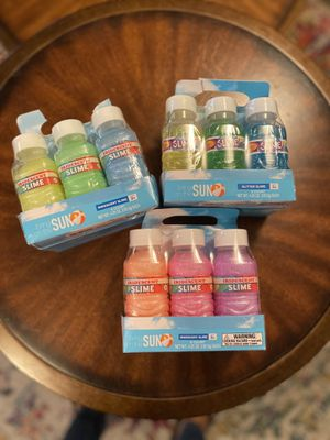 Brand new 18 bottles of slime for Sale in Federal Way, WA