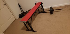 Workout gym bench with weights. for Sale in Rensselaer, NY