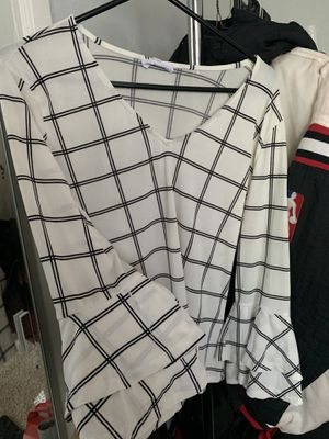 checkered top for Sale in Arden-Arcade, CA