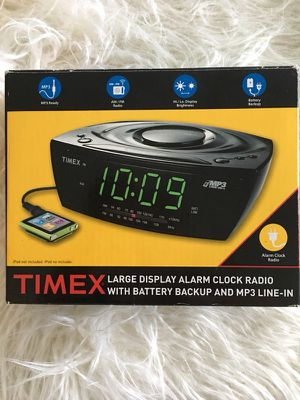 New Condition Timex Large Display AM/FM Alarm Clock Radio for Sale in Fort Lauderdale, FL