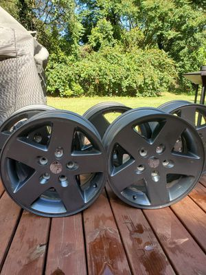 """17"""" Jeep Wheels (smoked), Set of 5 for Sale in Rockville, MD"""