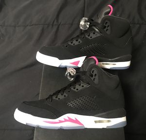 Nike Air jordan V 5 Retro Deadly Pink Size 6y or 7y shoes NEW DS! for Sale in San Diego, CA