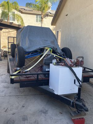 20ft trailer with drive over fenders and 50 gal fuel station for Sale in Chino, CA