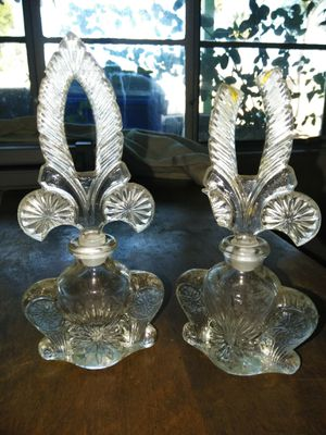 Antique Czechoslovakia crystal perfume bottles for Sale in San Diego, CA