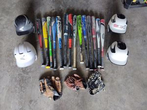 Baseball Equipment Bats Helmets Gloves for Sale in Mount Pleasant, PA
