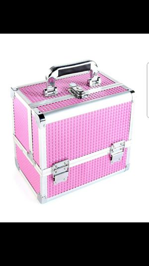 Train Case, Professional Cosmetic Case Makeup Storage Organizer for Sale in Grand Prairie, TX