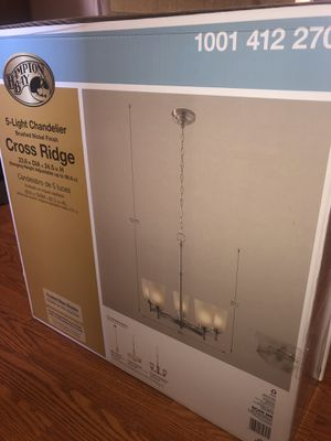 Home Decorators Collection Burnished Gold Finish 3 Light Pendant for Sale in Hesperia, CA