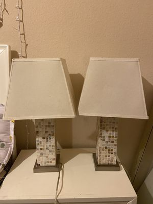 TWO BEDSIDE TABLE LAMPS for Sale in Irving, TX