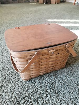 Longaberger 1984 Signed Picnic Basket for Sale in Puyallup, WA