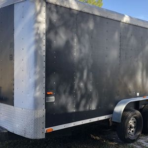 2000 7x14 Enclosed trailer Or Trade 7x16 Open Trailer for Sale in St. Cloud, FL