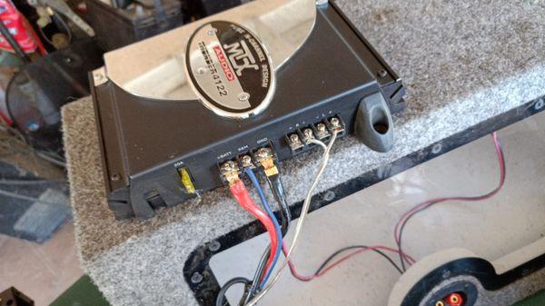 Mtx audio amplifier and car speaker