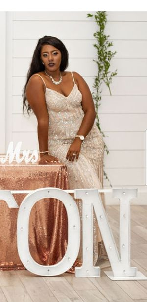 Champagne evening dress/ prom/wedding for Sale in Dallas, TX