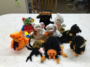 Ty Spooky Halloween set of 10 retired Mint Condition beanie babies rare and hard to find for Sale in Kannapolis, NC