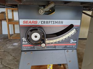 """Craftsman 10"""" Belt Drive 3HP Table Saw for Sale in Cape Coral, FL"""