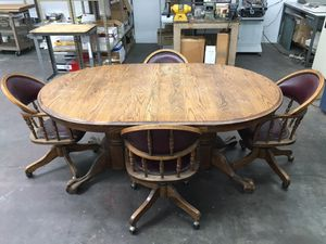 Antique Dining Table and Chairs for Sale in Huntington Beach, CA