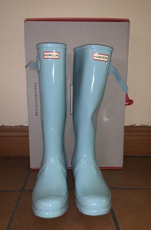 Light blue Hunter rain boots - Size 10 for Sale in Miami, FL