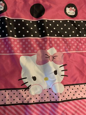 Hello kitty curtains and wall decor. for Sale in Spring Hill, FL