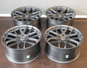 NEW Shelby Mustang rims wheels STAGGERED 19x9.5 Front x 19x10.5 Rear 5x114.3 bolt pattern for Sale in Houston, TX