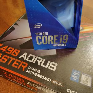 Intel 10900K + Gigabyte Z490 Aorus Master, Like New Retail Boxes And All Accessories for Sale in Anaheim, CA